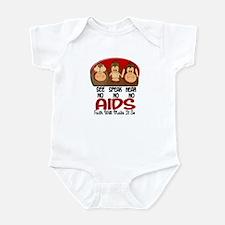 See Speak Hear No AIDS 1 Infant Bodysuit