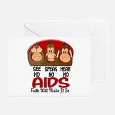 See Speak Hear No AIDS 1 Greeting Card
