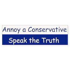 speak the truth Bumper Bumper Sticker