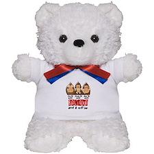 See Speak Hear No AIDS 3 Teddy Bear