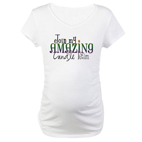 Join My Team - Candle Maternity T-Shirt
