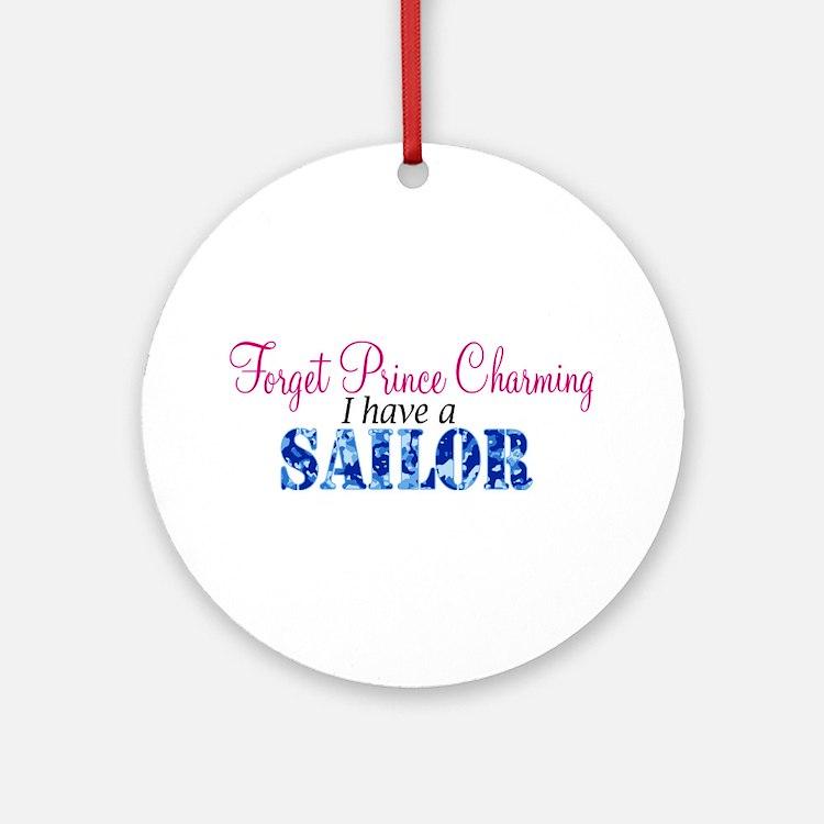 Forget Prince Charming, I hav Ornament (Round)