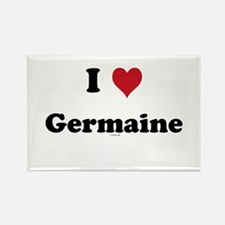 I love Germaine Rectangle Magnet