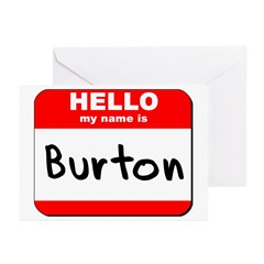 Hello my name is Burton Greeting Cards (Pk of 10)