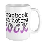 Scrapbook Instructors ROCK Large Mug