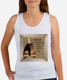 Goddess Ma'at Tank (Fitted, White)