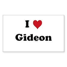 I love Gideon Rectangle Decal
