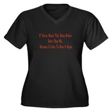 A Story Women's Plus Size V-Neck Dark T-Shirt