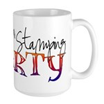 Host a stamping party Large Mug