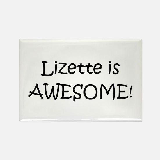 Cute Lizette Rectangle Magnet