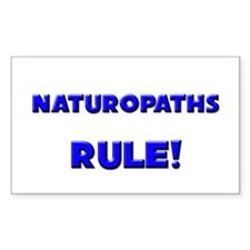 Naturopaths Rule! Rectangle Decal