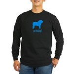 got bulldog? LT Blue Long Sleeve Dark T-Shirt