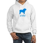 got bulldog? LT Blue Hooded Sweatshirt
