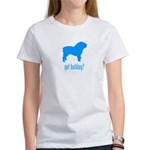 got bulldog? LT Blue Women's T-Shirt