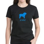 got bulldog? LT Blue Women's Dark T-Shirt