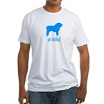 got bulldog? LT Blue Fitted T-Shirt