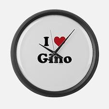 I love Gino Large Wall Clock