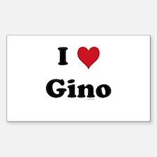 I love Gino Rectangle Decal