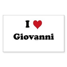 I love Giovanni Rectangle Decal