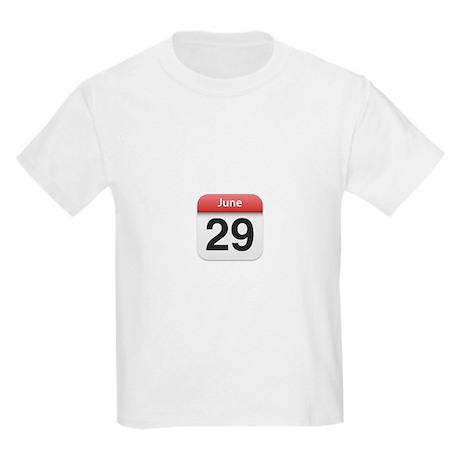 Apple iPhone Calendar June 29 Kids Light T-Shirt