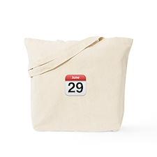 Apple iPhone Calendar June 29 Tote Bag