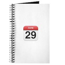 Apple iPhone Calendar June 29 Journal