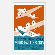 NY City Municipal Airports Postcards 8pk