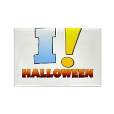 I ! Halloween Rectangle Magnet