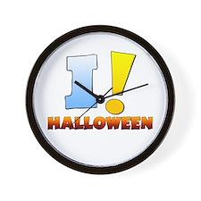 I ! Halloween Wall Clock