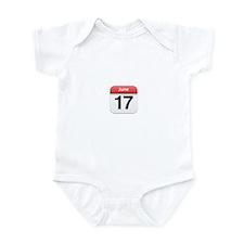 Apple iPhone Calendar June 17 Infant Bodysuit
