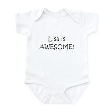Cute Lisa name Infant Bodysuit