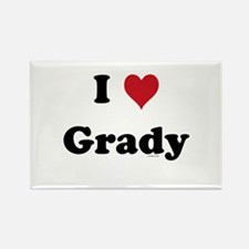 I love Grady Rectangle Magnet
