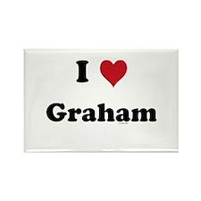 I love Graham Rectangle Magnet