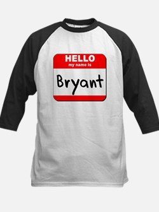 Hello my name is Bryant Kids Baseball Jersey