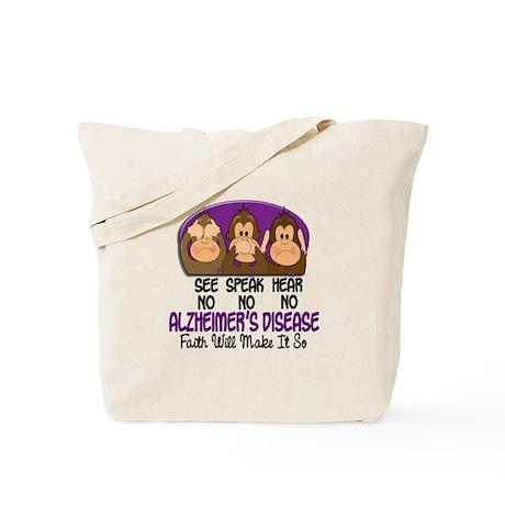 See Speak Hear No Alzheimers 1 Tote Bag
