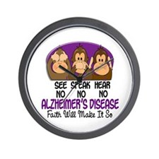 See Speak Hear No Alzheimers 1 Wall Clock