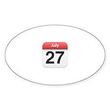 Apple iPhone Calendar July 27 Oval Decal