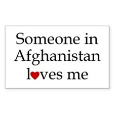 Someone in Afghanistan... Rectangle Decal