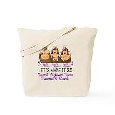 See Speak Hear No Alzheimers 2 Tote Bag