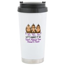 See Speak Hear No Alzheimers 2 Travel Mug