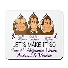 See Speak Hear No Alzheimers 2 Mousepad