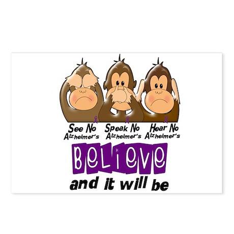 See Speak Hear No Alzheimers 3 Postcards (Package
