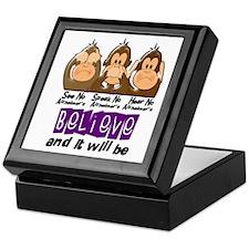 See Speak Hear No Alzheimers 3 Keepsake Box