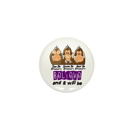 See Speak Hear No Alzheimers 3 Mini Button