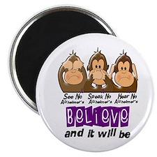 See Speak Hear No Alzheimers 3 Magnet