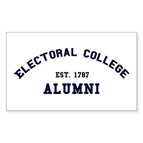 """Electoral College"" Alumni Rectangle Sticker"