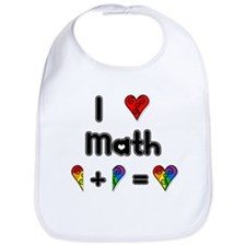 I Love Math Bib
