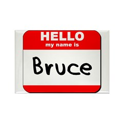 Hello my name is Bruce Rectangle Magnet