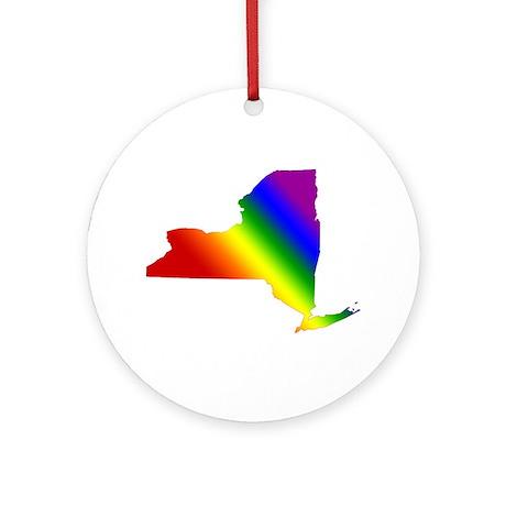 New York Gay Pride Ornament (Round)