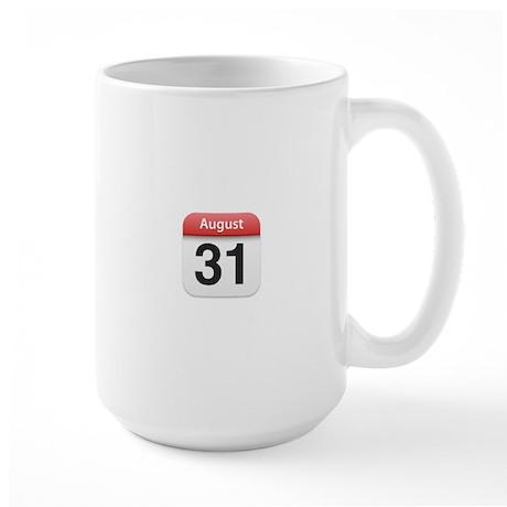 Apple iPhone Calendar August 31 Large Mug